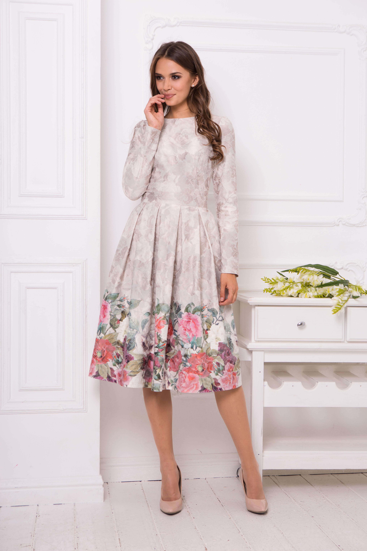 Купить юбки миди с принтом размер российский 50-52