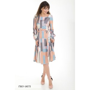 801-9675 Платье ГОЛУБ