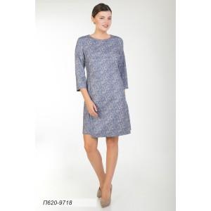 620-9718 Платье ГОЛУБ