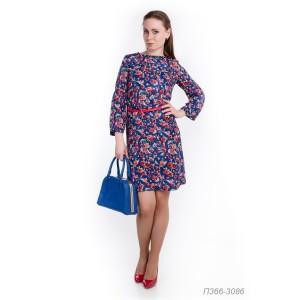 366-3086 Платье ГОЛУБ
