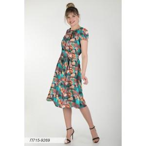 715-9269 Платье ГОЛУБ