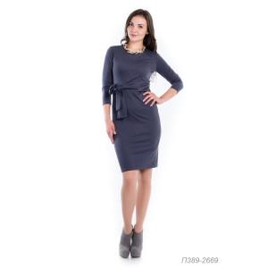 389-2669 Платье ГОЛУБ