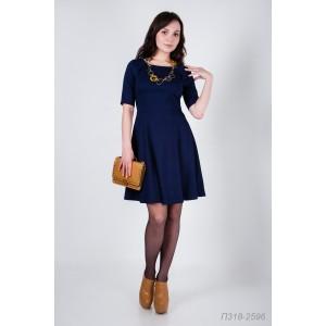 318-2596 Платье ГОЛУБ