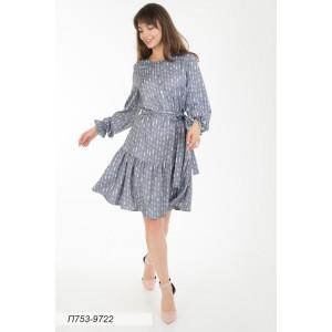 753-9722 Платье ГОЛУБ