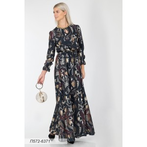 572-6371 Платье ГОЛУБ
