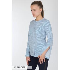 1691-7059 Блуза ГОЛУБ