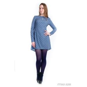 002-3255 Платье-туника ГОЛУБ