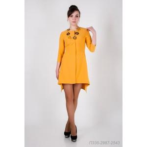 335-2987 Платье ГОЛУБ