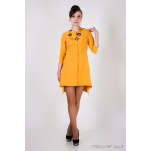 335-2987-2543 платье ГОЛУБ