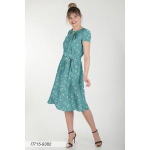 715-9382 Платье ГОЛУБ
