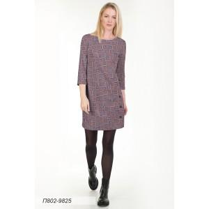 802-9825 Платье ГОЛУБ