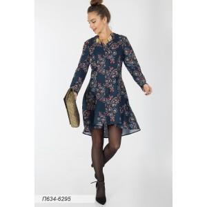 634-6295 Платье ГОЛУБ