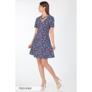 552-6300 Платье ГОЛУБ