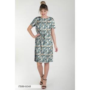 589-9248 Платье ГОЛУБ