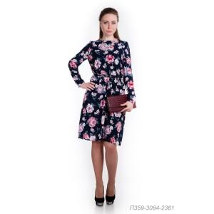 359-3084-2361 Платье ГОЛУБ